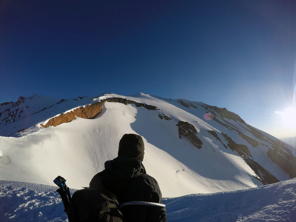 Arriving at the top of Avalanche Gulch - June 2016