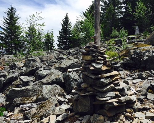 Some say that Mt. Defiance is simply a large cairn for Mt. Hood.